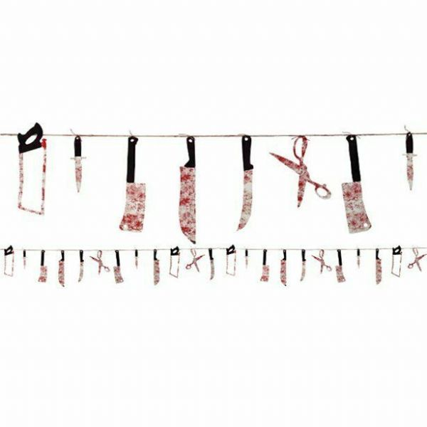 Halloween Bloody Weapon Garland - 2.3m